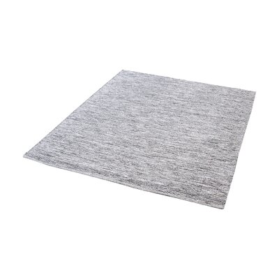 Croxley Handmade Black/White Area Rug Rug Size: Square 6