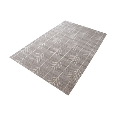 Maya Hand-Tufted Warm Gray Area Rug Rug Size: Rectangle 5 x 8
