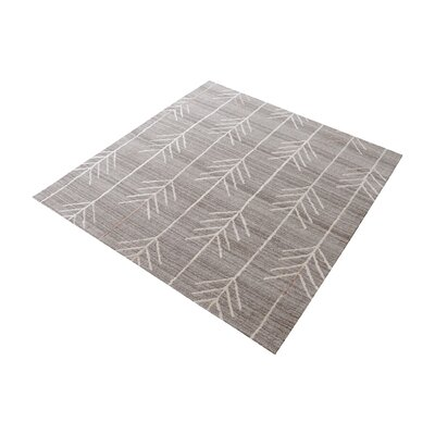 Maya Hand-Tufted Warm Gray Area Rug Rug Size: Square 14