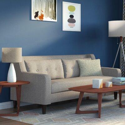 Ponderosa Mid Century Sofa Color: Glacier Gray