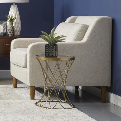 Ponderosa Mid Century Armchair Upholstery: Cream