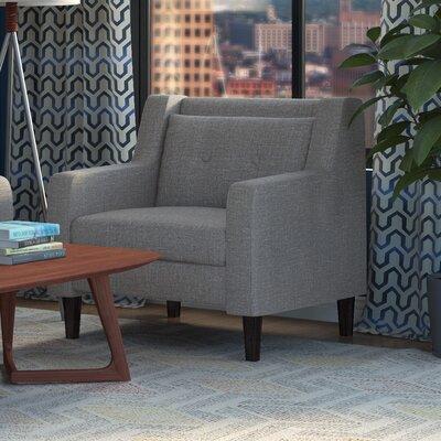 Ponderosa Mid Century Armchair Upholstery: Glacier Gray