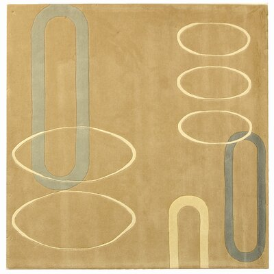 Bermondsey Hand-Tufted Beige Area Rug Rug Size: Square 6
