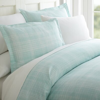 Tiger 3 Piece Duvet Cover Set Color: Aqua, Size: Queen
