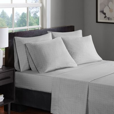 Arets 200 Thread Count 100% Cotton Sheet Set Size: Full, Color: Gray