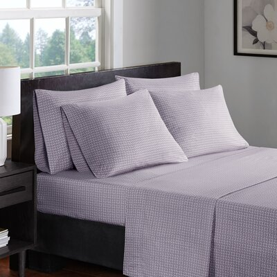Arets 200 Thread Count 100% Cotton Sheet Set Size: California King, Color: Purple