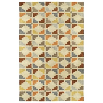Dresden Hand Tufted Beige/Brown Area Rug Rug Size: Rectangle 5 x 79