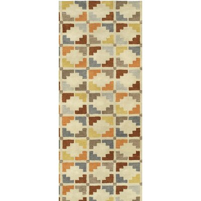Dresden Hand Tufted Beige/Brown Area Rug Rug Size: Runner 26 x 8