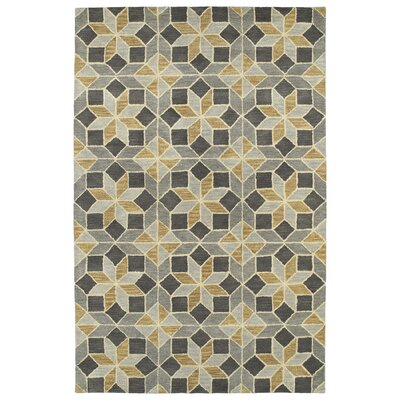 Dresden Hand Tufted Gray/Beige Area Rug Rug Size: Rectangle 36 x 56