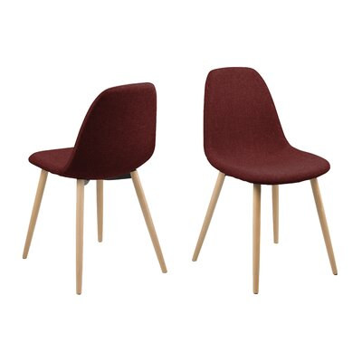 Gilbert Side Chair Upholstery: Red, Finish: Wood