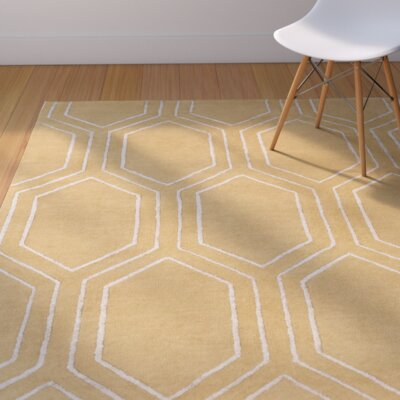 Camlin Hand-Tufted Tan Area Rug Rug Size: Rectangle 33 x 53