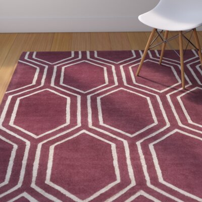 Camlin Burgundy/Light Gray Area Rug Rug Size: Rectangle 33 x 53