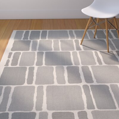Blocks Beige/Anthracite Area Rug Rug Size: Rectangle 4 x 57