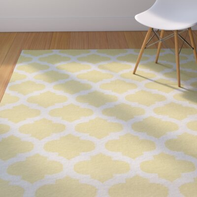 Hackbarth Gold Area Rug Rug Size: 8 x 11