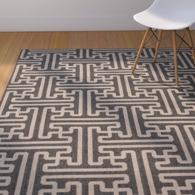 Delaney Black Indoor/Outdoor Area Rug Rug Size: Square 73