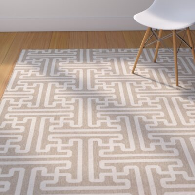 Delaney Taupe Outdoor Area Rug Rug Size: 89 x 129