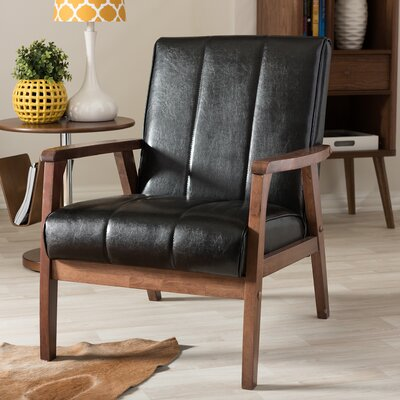 Kinley Arm Chair Upholstery: Black