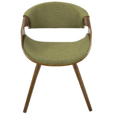Corsica Curvo Barrel Chair Upholstery: Green