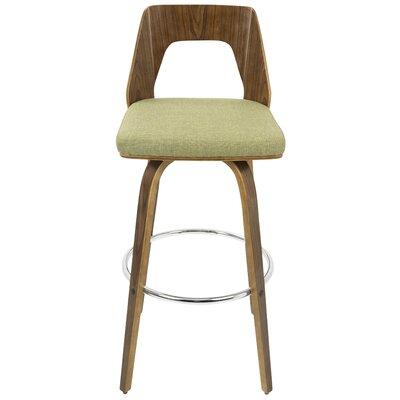 30 Swivel Bar Stool with Cushion Upholstery: Green
