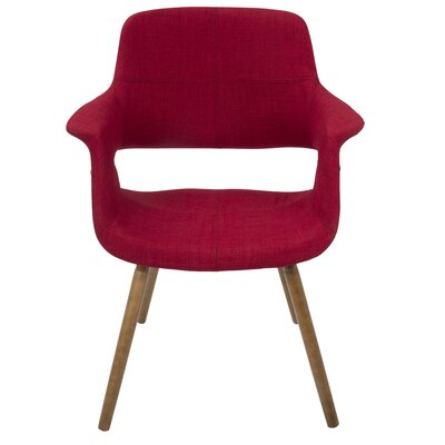 Frederick Arm Chair Upholstery: Burgundy