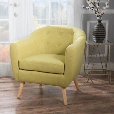 Mira Luna Barrel Chair Upholstery: Light Green