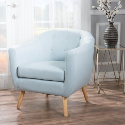 Mira Luna Barrel Chair Upholstery: Light Sky