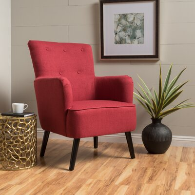 Sinan Armchair Upholstery Color: Red