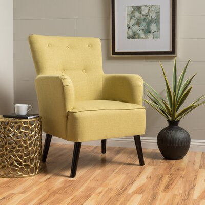 Sinan Armchair Upholstery: Green Yellow