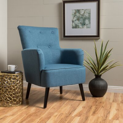 Sinan Armchair Upholstery Color: Blue