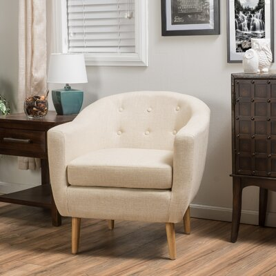 Mira Luna Barrel Chair Upholstery: Taupe