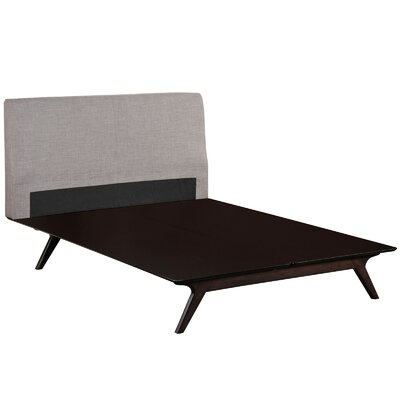 Hannigan Upholstered Platform Bed Size: King, Color: Cappuccino Gray