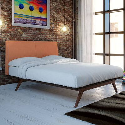 Modesto Upholstered Platform Bed Size: Full, Color: Cappuccino Orange