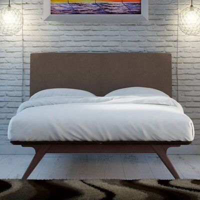 Modesto Upholstered Platform Bed Upholstery: Cappuccino Brown, Size: King