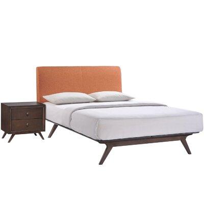 Modesto Platform 2 Piece Bedroom Set Finish: Orange