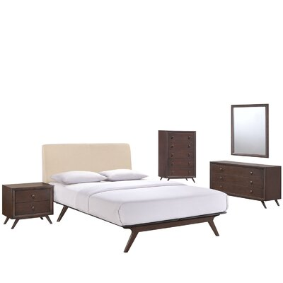 Langley Street Modesto Platform 5 Piece Bedroom Set