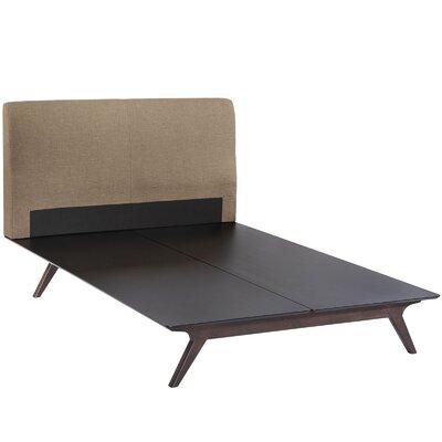 Modesto Queen Upholstered Platform Bed Upholstery: Latte