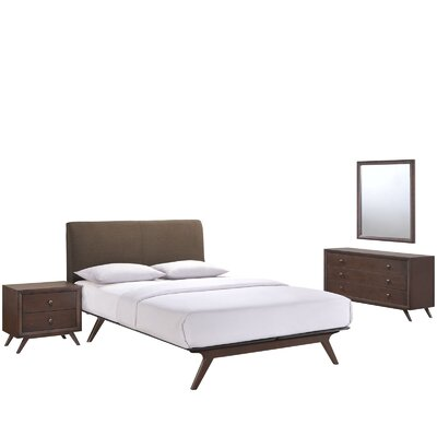 Modesto Platform 4 Piece Bedroom Set Finish: Brown