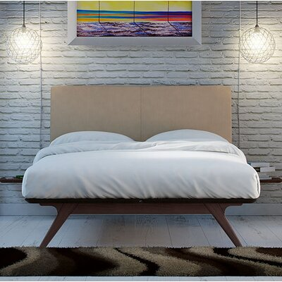 Modesto Upholstered Platform Bed Size: Twin, Color: Latte