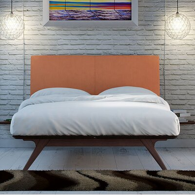 Hannigan Upholstered Platform Bed Size: King, Color: Orange