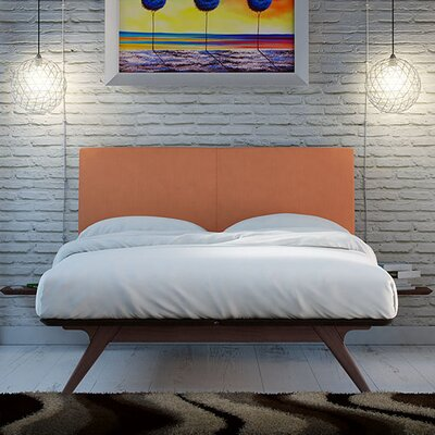 Modesto Upholstered Platform Bed Size: Full/Double, Color: Orange