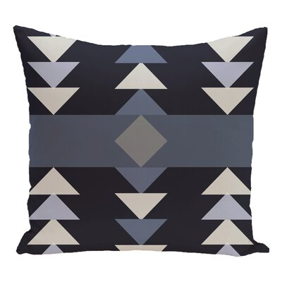 Blick Geometric Print Outdoor Throw Pillow Color: Navy Blue, Size: 20 H x 20 W