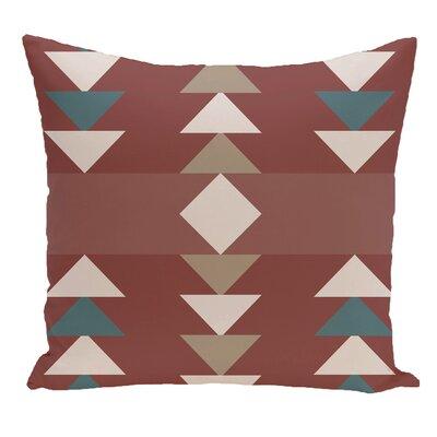 Blick Geometric Print Outdoor Throw Pillow Size: 20 H x 20 W, Color: Orange