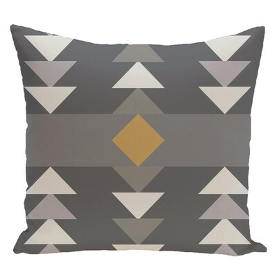 Blick Geometric Print Outdoor Throw Pillow Size: 18 H x 18 W, Color: Gray