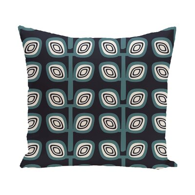Yareli Leaf Tree Geometric Print  OutdoorThrow Pillow Color: Navy, Size: 20