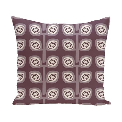 Yareli Leaf Tree Geometric Print  OutdoorThrow Pillow Size: 18 H x 18 W, Color: Purple