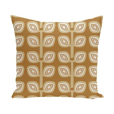 Yareli Leaf Tree Geometric Print  OutdoorThrow Pillow Size: 18 H x 18 W, Color: Gold