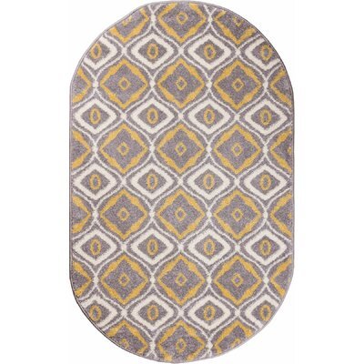Pattison Area Rug Rug Size: Oval 27 x 42