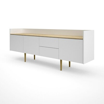 Majorca Sideboard Color: White/Oak