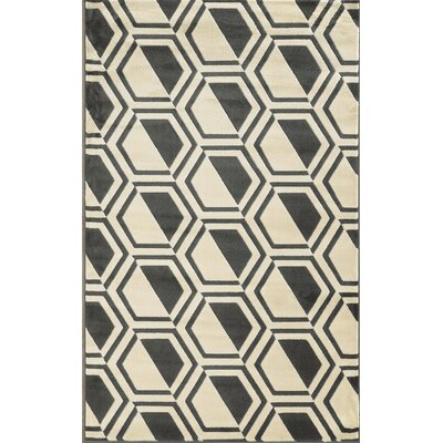 Suzanne Grey/Charcoal Area Rug Rug Size: Rectangle 8 x 10