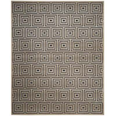 Garner Beige/Blue Indoor/Outdoor Area Rug Rug Size: Round 67